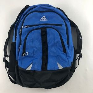Adidas Blue Black Multi Zip Back Pack